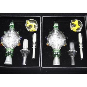 Coletor de vidro de venda quente do néctar das tartarugas da tubulação de fumo 14mm