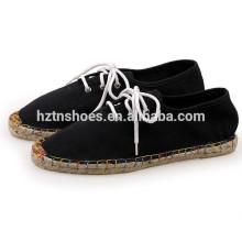 Hot Sale Men Casual Espadrille Chaussures avec dentelle