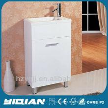 Gabinete de baño de la melamina de la vanidad del color simple del diseño simple de la venta caliente