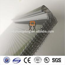 Wasserdichtes 20mm graues u-lock Polycarbonatblatt