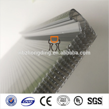 Waterproof 20mm grey u-lock polycarbonate sheet