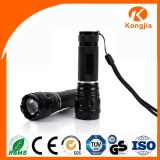 3W Zoom Mini Flat Led Flashlight with 3 Modes