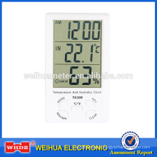 Digital Thermometer with Humidity Build-in & External Sensor Temperature And Humidity Clock TA308