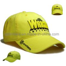Gorra de béisbol lavada popular del deporte del bordado de la tela cruzada del canguro (TRB027)