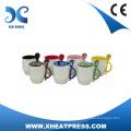 12OZ Small Order Ceramic Mug with Spoon,Coffee Mug with Spoon