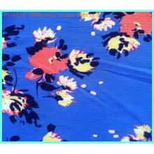 Tecido 100% Rayon Crepe Moda Tecido Estampado Floral para Costura