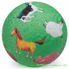 Green Color 8.5 Inch Rubber Playground Balls