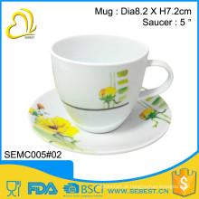 melhor venda conjuntos de melamina lidar com xícara de chá