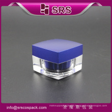 J050 square shape acrylic cosmetic cream jar