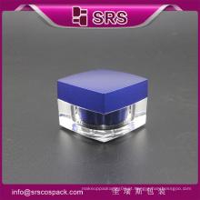 J050 forma quadrada acrílico creme frasco de creme