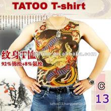wholesale high quality sleeveless tight tattoo t-shirt, tattoo clothing