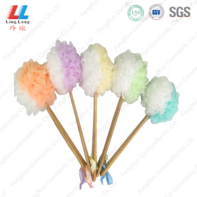 Two color sponge wooden rud brush