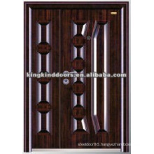 Customized Double Steel Door KKD-569B For One and Half Door Leaf/Mother and Son Door Design