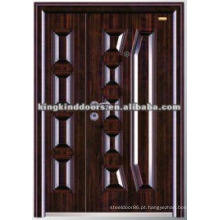 Porta de aço duplo personalizado KKD-569B para uma e meia folha de porta de mãe e filho porta Design