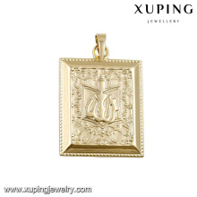 31930 fashion muslim jewelry 14k gold square big pendants