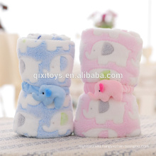 Professional customized good quality funny plush blanket baby toys with elephant design