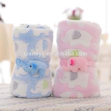 Profissional personalizado boa qualidade brinquedos de pelúcia cobertor bebê com design elefante