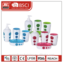 4 pieces mordern plastic bathroom set(0.3L)-Two layers