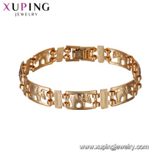75139 Xuping new gold bracelet models high quality simple designs 18k gold plated chains bracelet