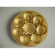 Película rígida de PVC metalizado Golden para bandeja de galletas