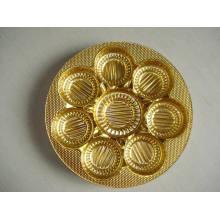 Película Rigida de PVC Metálico Golden for Biscuit Tray