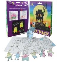 Halloween-Kinder malen 3D-Papier Puzzle Kinder Wert Mix-Set