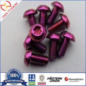 Titanium ISO 14583 Round head screws with hexalobular slot
