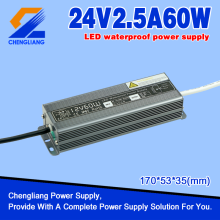 24V 60W IP67 Power Supply Tahan Air