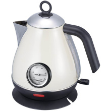 Cream Color Stainless Steel Cordless Pyramid Kettle