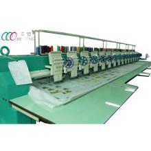 15 cabezas 9 agujas máquina de bordado de prendas de vestir con lentejuela simple