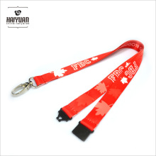 Sublimation Printing Red Canada Maple Leaf Lanyard