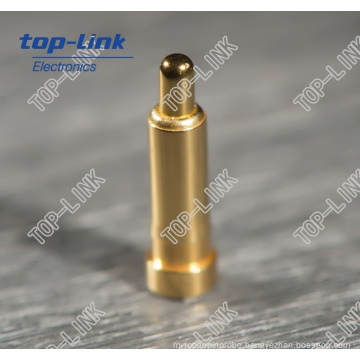 Nonstandard Brass Spring Loaded Contact Pin with Diameter 0.9mm