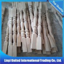 Balaustre de madera maciza tallada para escalera