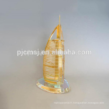 Nouveau design cristal Burj Dubaï modèle memento CM-P030