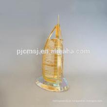 Novo design de cristal Burj Dubai modelo memento CM-P030