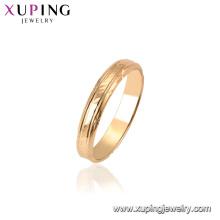 15451 Xuping 18 k banhado a ouro mais recente moda anel projetos sem pedra para as mulheres