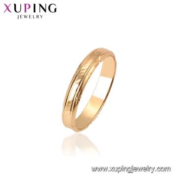 15451 Xuping 18k plaqué or dernières conceptions d'anneau de mode sans pierre pour des femmes