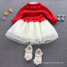 robes de noël enfants chandails rouges jupes pour enfants XMAS BABY RED SWEATERS ROBES ROBES ROBE BONNE QUALITE