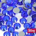 Sparkly Glass Hot Fix Rhinestones Capri Blue