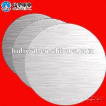 Folha circular de alumínio