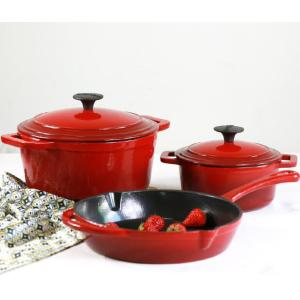 factory price enamel cast iron cookware sets