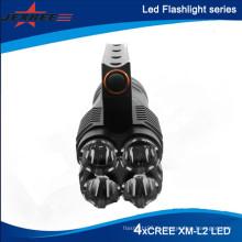 Nouvelle lampe de chasse 4 x Cree XM-L2 LED 3-Mode 3500 Lumens Lampe de poche Lanterne de camping portable de haute qualité (4 x 18650)