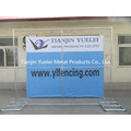 Portable Galvanised Steel Crowd Control Temporary Fence, Crowd Control Barrier Temporary Fence