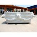 Maßgeschneiderte freistehende weißen Marmor Solid Badewanne zum Verkauf