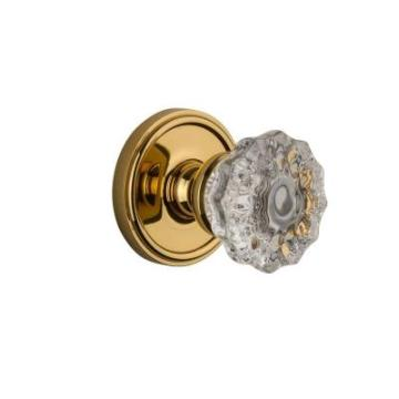 Polished Brass with Double Dummy Versailles Crystal Knob