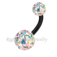 Joya de las mujeres Hot Sex Navel Ring Body Piercing Jewelry Ferido Fancy cristal anillo de ombligo