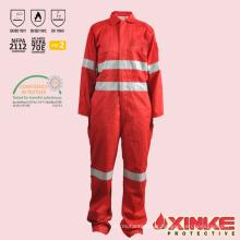 Industrie du pétrole et du gaz anti-feu anti statique vêtements de travail salopettes Chine