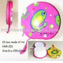 Tin CD case with zipper closure