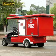 Electric 2 seater mini fire electric car