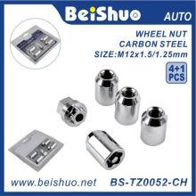 4 + 1 PCS / set porca de trava da roda para a segurança do carro